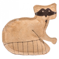 Spot Dura Fused Leather Dog Toy - Raccoon Image