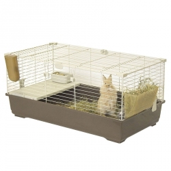 Marchioro Tommy C Guinea Pig & Rabbit Cage - Brown Image