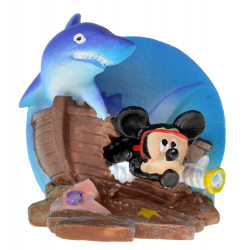 Penn Plax Mickey Shipwreck Resin Ornament Image