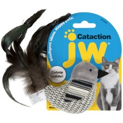 JW Pet Cataction Catnip Black And White Bird Cat Toy With Feather Tail  Image