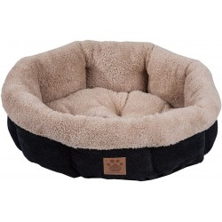 Precision Pet Snoozzy Mod Chic 12 Inch Round Pet Bed Black Image
