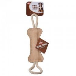 Spot Dura Fused Leather Dog Toy - Bone Tug Image