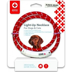 Penn-Plax American Red Cross LED Nylon Dog Necklace Image