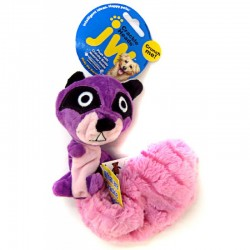 JW Pet Crackle Heads Ricky Raccoon Dog Toy Image