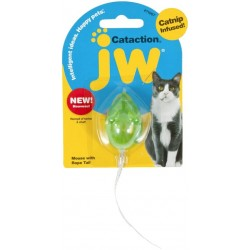 JW Pet Cataction Catnip Infused Mouse With Bell And Tail Cat Toy  Image