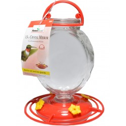 Homestead Crystal Mirror Glass Hummingbird Feeder Image