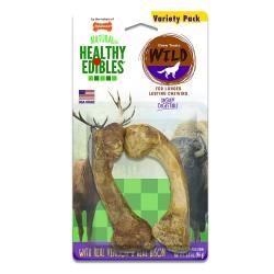 Nylabone Healthy Edibles Wild Chew Bone Variety Pack - Venison & Bison Image