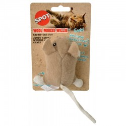 Spot Wool Mouse Willie Catnip Toy - Assorted Colors Image
