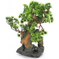 Penn Plax Bonsai Tree on Rocks Aquarium Ornament Image