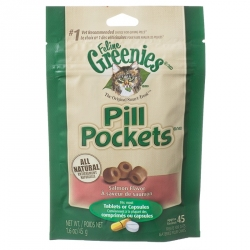 Greenies Pill Pockets Cat Treats - Natural Salmon Flavor Image
