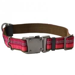 K9 Explorer Reflective Adjustable Dog Collar - Berry Red Image