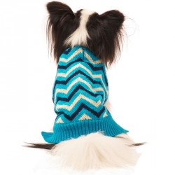 Lookin' Good Chevron Dog Sweater - Blue Image
