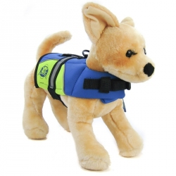 Paws Aboard Neoprene Designer Doggy Life Jacket - Blue / Yellow Image