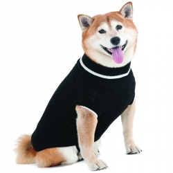 Fashion Pet Black Cable Knit Sweater Image