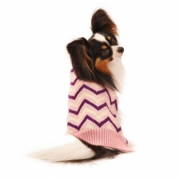 Lookin' Good Chevron Dog Sweater - Pink Image