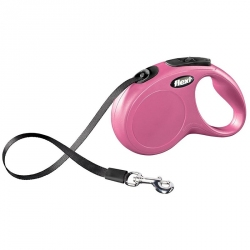 Flexi New Classic Retractable Tape Leash - Pink Image