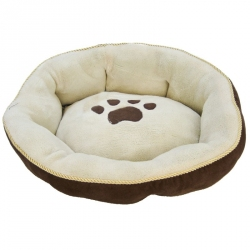 Round Sculptured Dog Bed Image