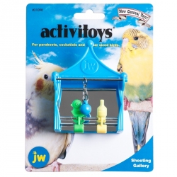 JW Insight Activitoys Shooting Gallery Bird Toy Image