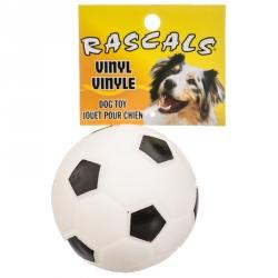 Rascals Vinyl Soccerball for Dogs - White Image