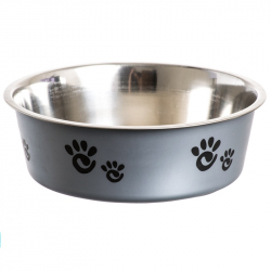 Spot Barcelona Stainless Steel Feeding Bowl for Dogs - Silver Image