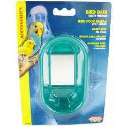 Living World Oval Bird Bath with Mirro Image
