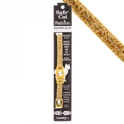 Safe Cat Jeweled Adjustable Breakaway Cat Collar - Gold Glitter Image