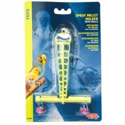 Living World Plastic Spray Millet Holder with Bells Image