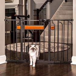 Carlson Design Studio Extra Wide Walk-Thru Pet Gate with Door Image