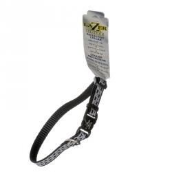 Lazer Brite Reflective Open-Design Adjustable Dog Collar - Black Chain Link Image
