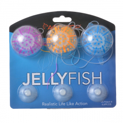 Aquatop Silicone Jellyfish Aquarium Ornament - Assorted Colors Image