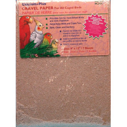 Penn Plax Calcium Plus Gravel Paper for Caged Birds Image