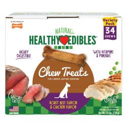 Nylabone Healthy Edibles Variety Pack - Roast Beef & Chicken - Petite Image