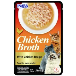 Inaba Chicken Broth with Chicken Recipe Side Dish for Cats Image