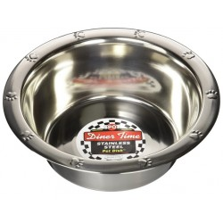 Diner Time Stainless Steel Pet Dish Image