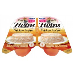 Inaba Twin Packs Chicken in Chicken FLavored Broth Side Dish for Cats Image