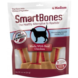 SmartBones Medium Vegetable and ChickenBones Rawhide Free Dog Chew Image
