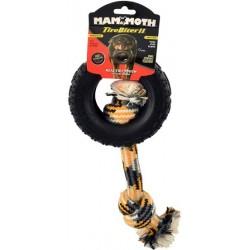 Mammoth Tirebiter II Dog Toy with Rope Medium Image