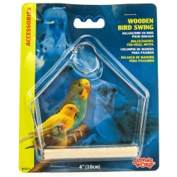 Living World Wooden Bird Swing with Perch Image