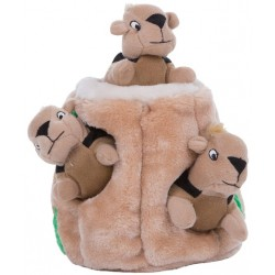 Outward Hound Plush Hide-A-Squirrel Puzzle Dog Toy Image