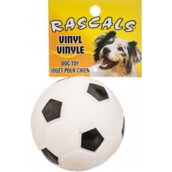 Coastal Pet Rascals Vinyl Soccer Ball for Dogs White Image