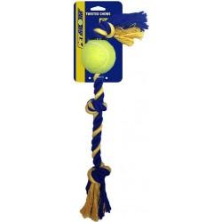 Petsport Medium 3-Knot Cotton Rope with 1 Tuff Ball Image