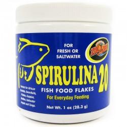 Zoo Med Aquatic Spirulina 20 Fish Food Flakes Image
