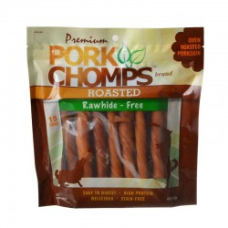Pork Chomps Twist Pork Skin Dog Treats - Pork Earz Image