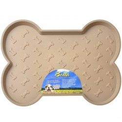 Loving Pets Bella Spill-Proof Dog Mat - Tan Image