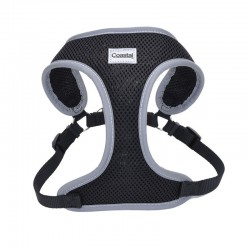 Coastal Pet Comfort Soft Reflective Wrap Adjustable Dog Harness - Black Image