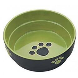 Spot Ceramic Black and Green Fresco Paw Print 5