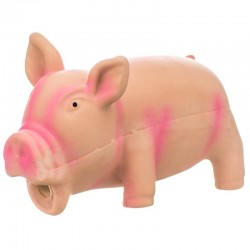 Rascals Latex Grunting Pig Dog Toy - Pink Image