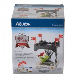Aqueon Betta Castle Aquarium Kit - Black Image