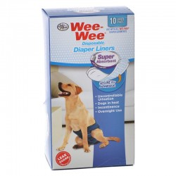 Four Paws Wee Wee Super Absorbent Disposable Diaper Liners Image