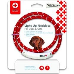 Penn-Plax American Red Cross LED Nylon Dog Necklace Image
